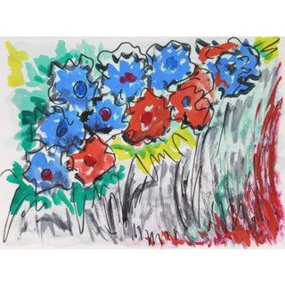 Fauvist Floral Bouquet Painting