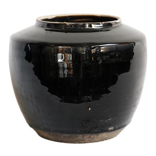 Black Ceramic Pottery Vase