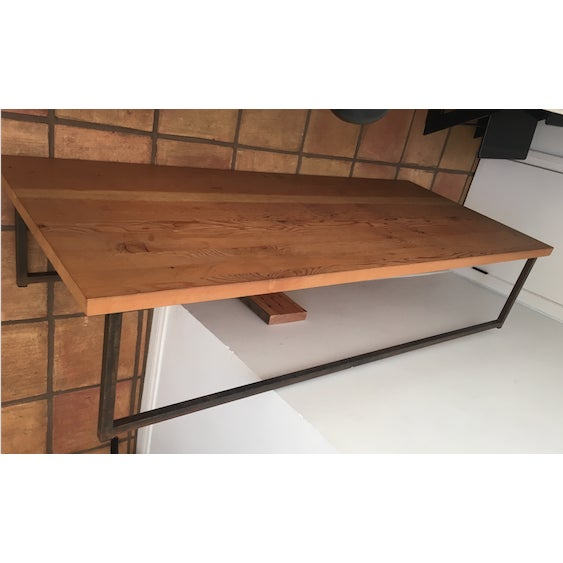 Image of Cisco Wooden Coffee Table with Iron Leg Work