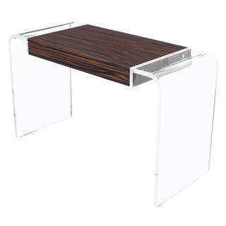 Macassar Ebony Lucite Waterfall Writing Desk