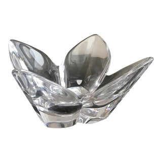 Vintage Orrefors Signed Crystal Bowl