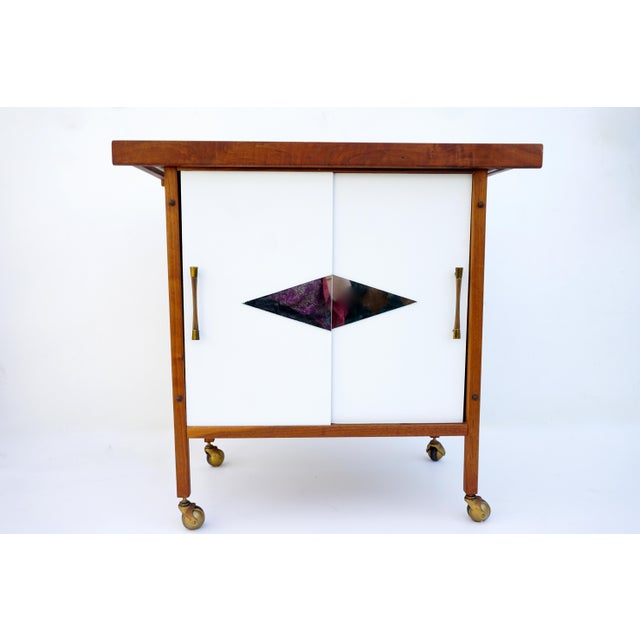 Mid-Century Danish Modern Teak Bar Cart - Image 2 of 11