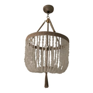 Ro Sham Beaux Malibu Ice Recycled Glass Chandelier