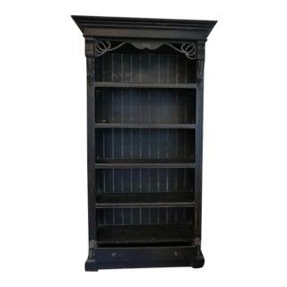 Vintage Distressed Black Bookcase