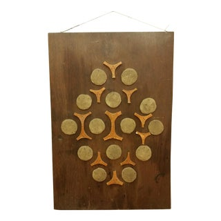 Cement & Ceramic Collage Wooden Wall Hanging