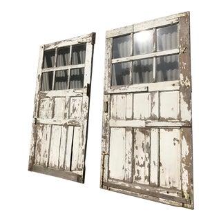 Antique Sliding Barn/Garage Doors - A Pair
