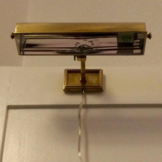 Alexa Hampton Dean Brass Picture Lights - A Pair - Image 4 of 6