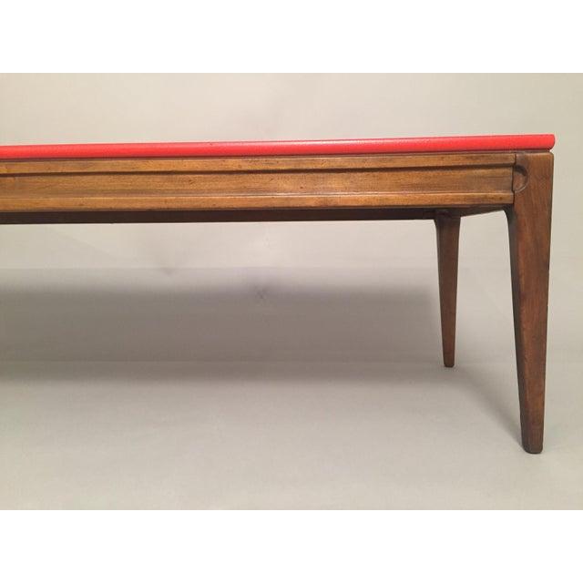 Mid Century Modern Red Coffee Table Chairish