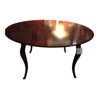 Round to Oval Antique Expandable Dining Table