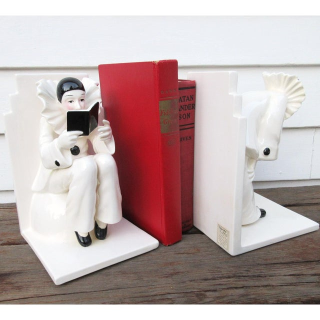 Art Deco Ceramic Mime Bookends - A Pair - Image 7 of 7
