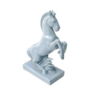 Czech Porcelain Stallion Figurine