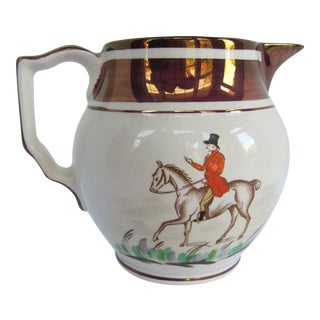Gray's Pottery Hunting Pitcher