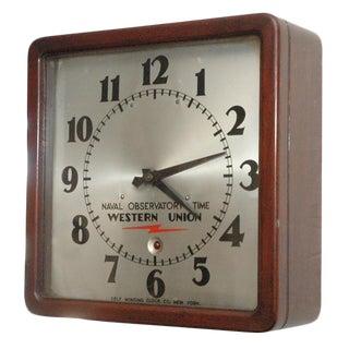 Unusual Western Union Electric Wall Clock