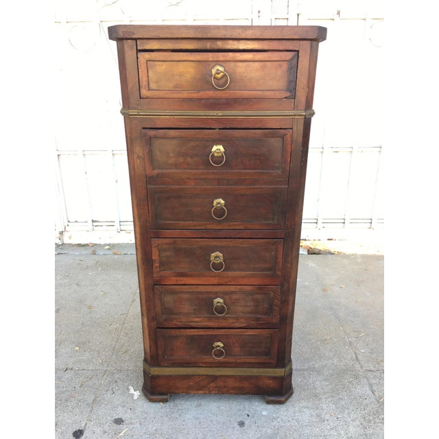 Antique Walnut & Brass Chest of Drawers - Image 3 of 11