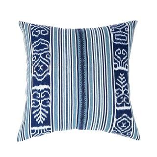 Indigo & Teal Guatemalan Ikat Pillow