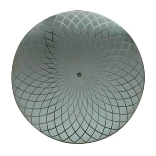 Art Deco Glass Shade Light Fixture