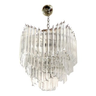 1970's Restored Lucite Chandelier