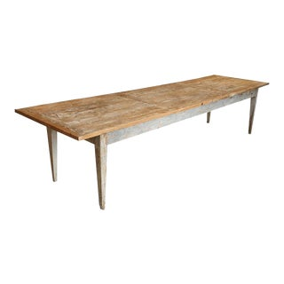 Large 19th Century French Painted Dining Table