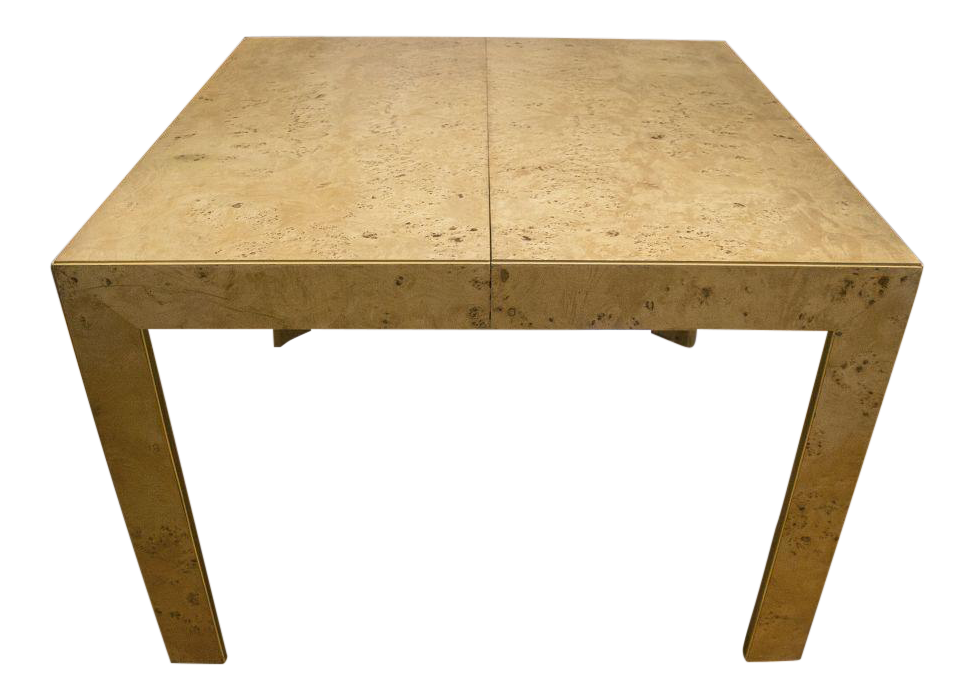 Thomasville Burl Wood Parsons Expandable Dining Table Part 40