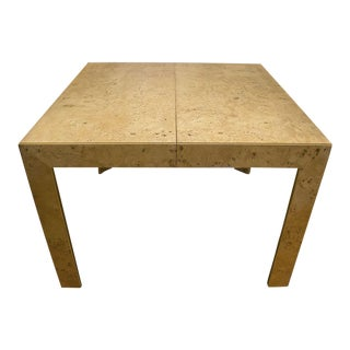 Thomasville Burl Wood Parsons Expandable Dining Table