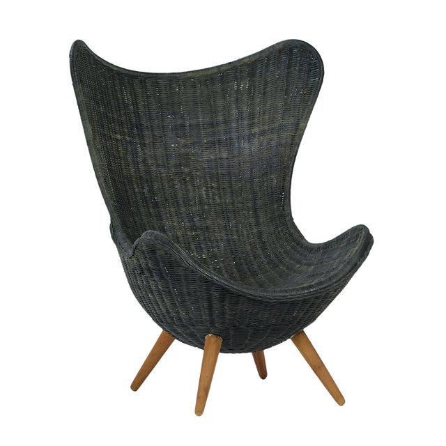 Ebony Wicker Egg Chair - Image 2 of 4