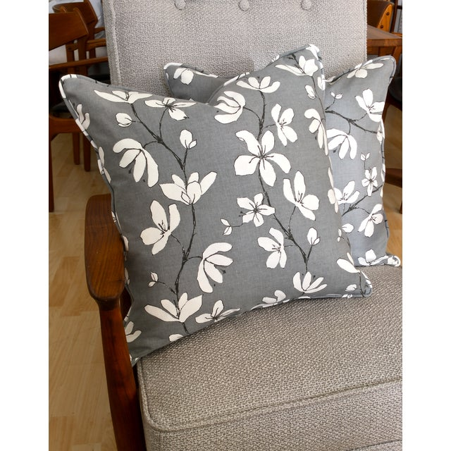 west elm floral pillow covers a pair chairish. Black Bedroom Furniture Sets. Home Design Ideas