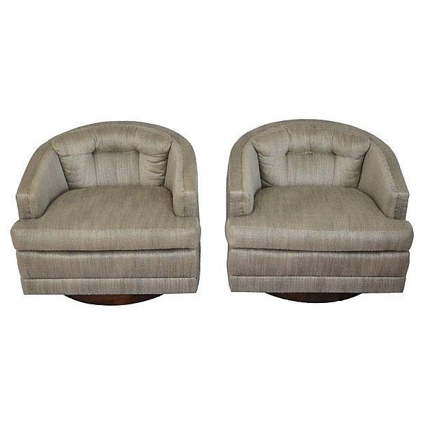 1970s Barrel Swivel Chairs - Pair - Image 7 of 7