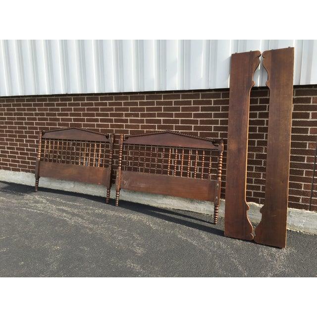 Jenny lind full size headboard footboard side rails for Full size footboard