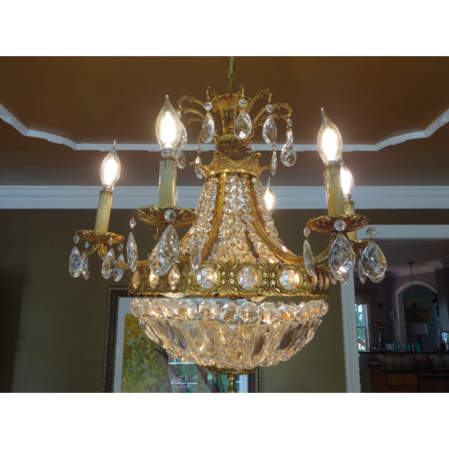 French Crystal Empire Style Chandelier - Image 2 of 8
