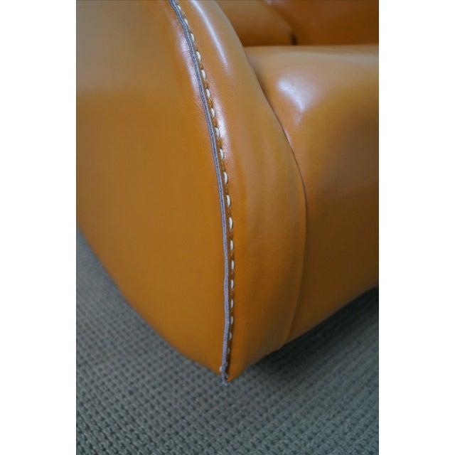 Unusual Italian Leather Rocking Lounge Chair - Image 5 of 10