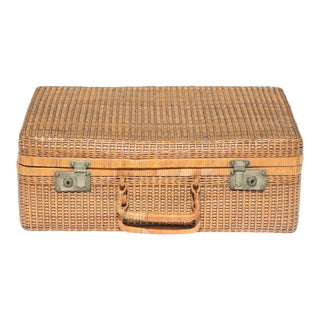 Vintage Wicker Suitcase