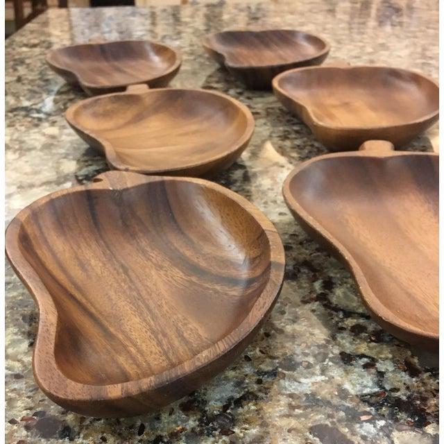 Image of Mid-Century Monkey Pod Leaf Bowls- Set of 6