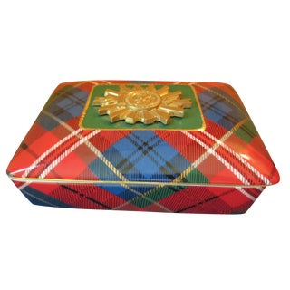 Holiday Tartan Trinket Box