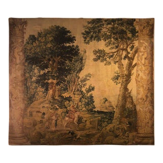 A Fine Tapestry Flemish Pastoral Delft Scene 17th Century Prov. Christies NYC