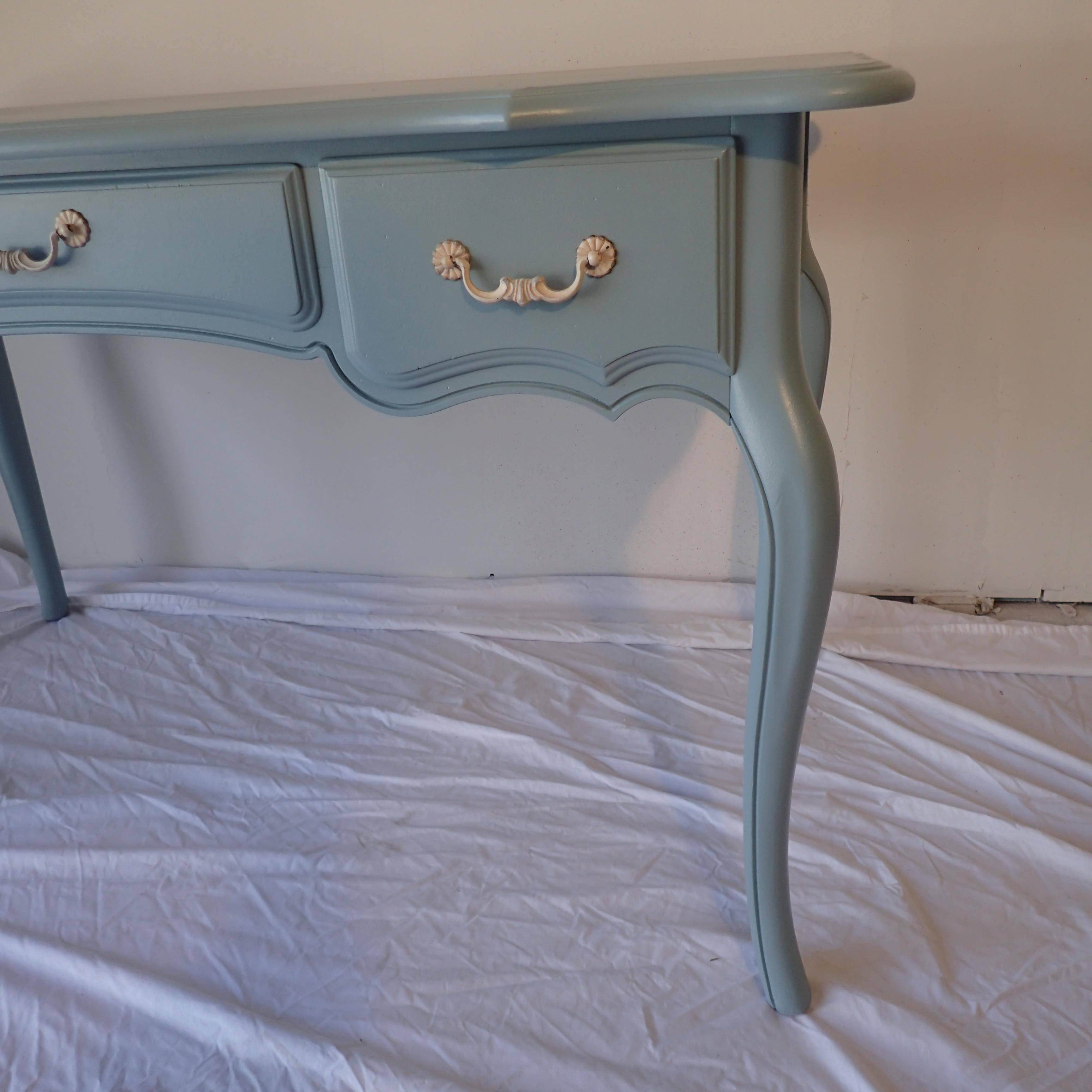Ethan Allen French Blue Desk Chairish