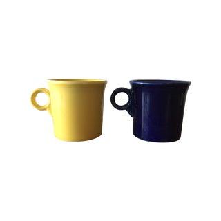Contemporary Fiestaware Ring Handled Mugs - a Pair