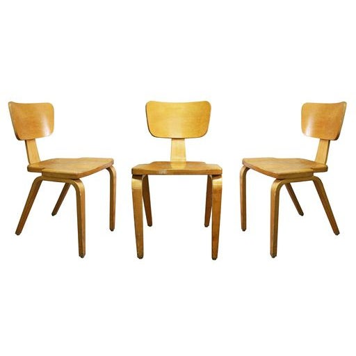 Thonet Style Side Chairs Set Of 3 Chairish