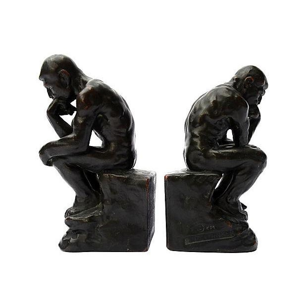 Image of Thinker Bookends - Pair