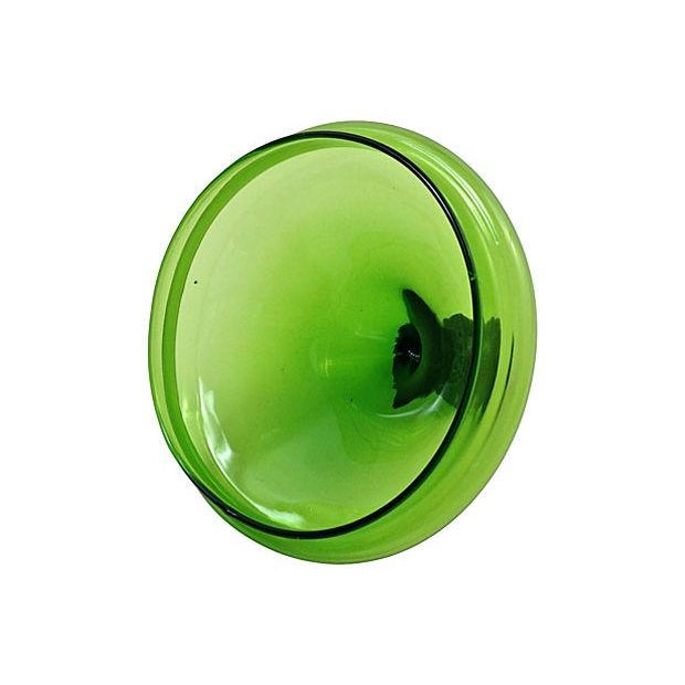 Image of 1960s Green Blown Glass Bonbonniére