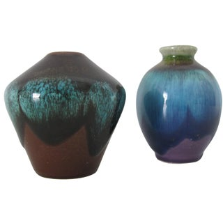 Tiny Ceramic Jars - A Pair
