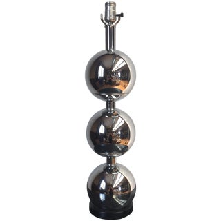 Chrome Stacking Ball Table Lamp