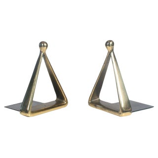 Bronze Triangle Bookends by Ben Seibel