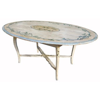 19th-C. Hand-Painted Floral Italian Table