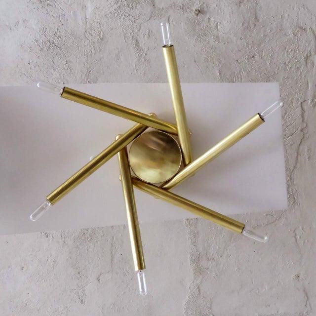 Spiral Six-Arm Brass Flush Mount - Image 4 of 10