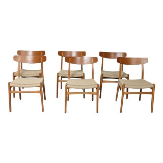Hans Wegner Set of 6 Dining Chairs