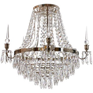 Empire Nickel Drop Nobel Bathroom Chandelier