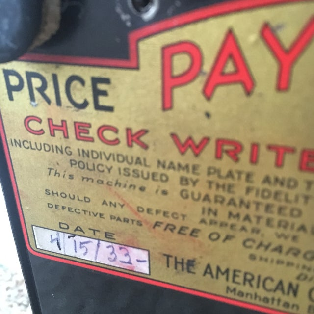 1930s Antique Paymaster Office Check Writer - Image 10 of 11