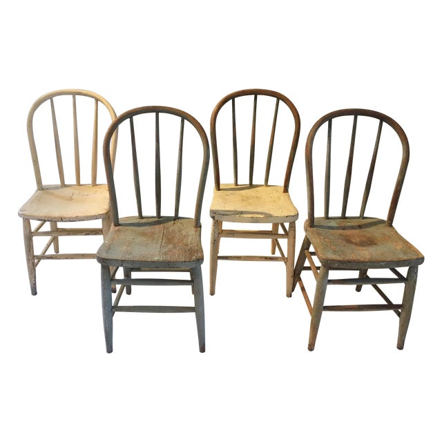Farm House Dining Chairs - Set of 4 - Image 1 of 6