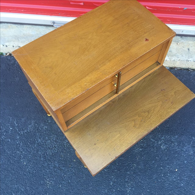 Mid Century Coffee Table And End Tables: Mid Century End Table With Drawer By Kent Coffee