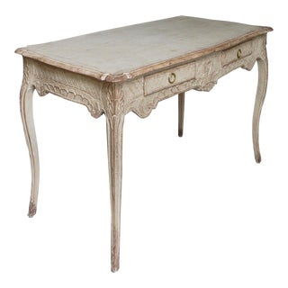 Rococo Writing Table with Carved Detail (#61-17)